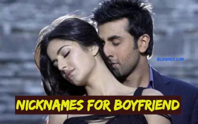 Nicknames for boyfriend